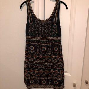 Anthropologie hand-beaded dress